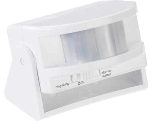 Détecteur de mouvement à infrarouge avec alarme ou sonnerie blanc avidsen 100016