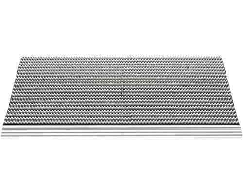 Tapis aluminium Outline gris clair 50x80 cm
