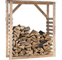 Abri pour bois de chauffage mélèze 150 x 60 x 180 cm, nature-thumb-0