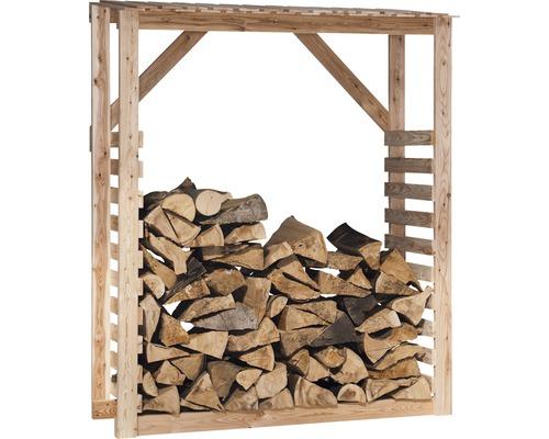 Abri pour bois de chauffage mélèze 150 x 60 x 180 cm, nature