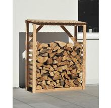 Abri pour bois de chauffage mélèze 150 x 60 x 180 cm, nature-thumb-2
