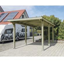 Carport pour véhicule Vertika toit PVC 301x504 cm traité en autoclave par imprégnation-thumb-0