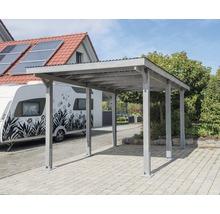 Carport pour véhicule Vertika toit aluminium 301x504 cm gris-thumb-0