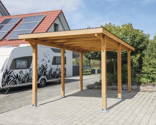 Carport pour véhicule Vertika toit PVC 301x504 cm couleur miel