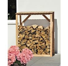 Abri pour bois de chauffage mélèze 150 x 60 x 180 cm, nature-thumb-1