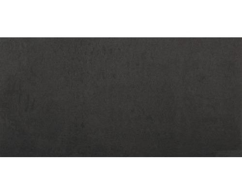 Carrelage de sol noir 30x60cm aspect brillant Poli