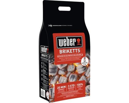 Briquettes Weber 4kg pouvoir calorifique env. 26,18MJ/kg