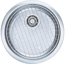 """Kit évier CENTA Zena 60 acier inoxydable lisse avec soupape à bouchon à grille 3 ½""""-thumb-1"""