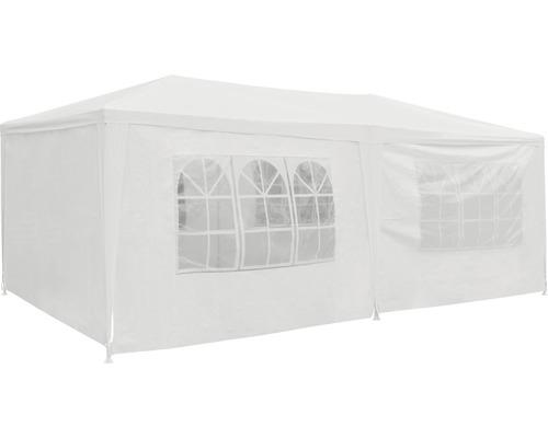 Tente de réception Palma 3x6x2.55 m polyéthylène 125 g/m² blanche