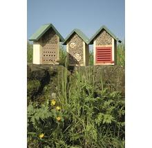 Hôtel à insectes abeilles sauvages 22.5x14x28.5 cm, naturel-thumb-2