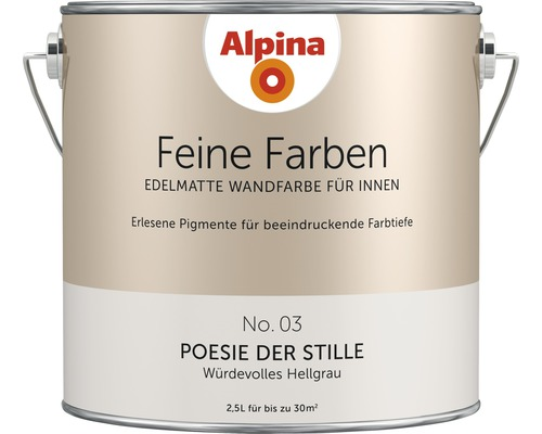 Peinture murale Alpina Feine Farben Poesie der Stille 2.5 l
