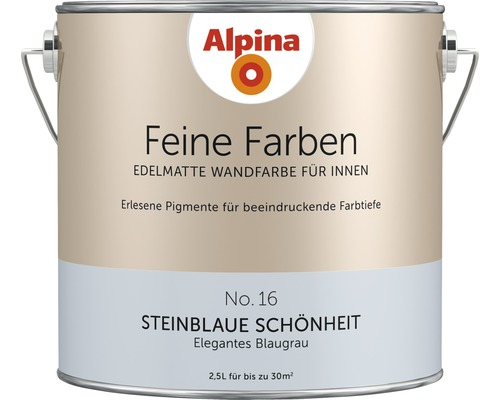 Peinture murale Alpina Feine Farben Steinblaue Schönheit 2,5 l