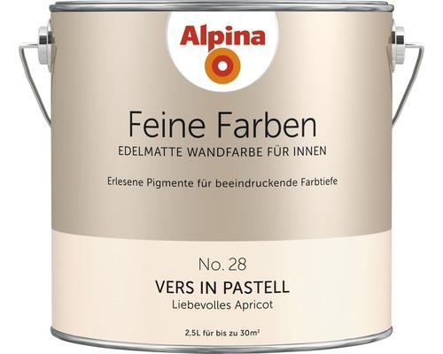 Peinture murale Alpina Feine Farben Vers in Pastell 2,5 l