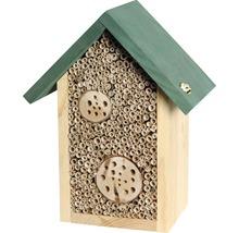 Hôtel à insectes abeilles sauvages 22.5x14x28.5 cm, naturel-thumb-0