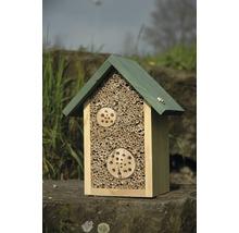 Hôtel à insectes abeilles sauvages 22.5x14x28.5 cm, naturel-thumb-1