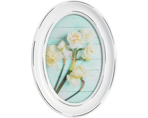 Portrait encadrer Oval blanc 10x15 cm