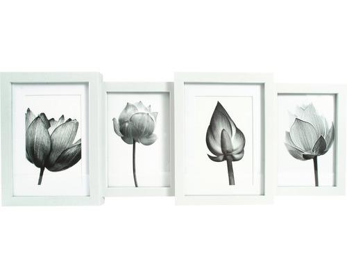 Cadre multivues Lio 4 photos blanc 55x20,8 cm