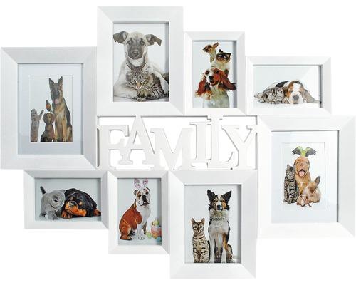 Cadre multivues Family 8 photos blanc 72x56 cm-0
