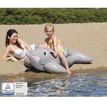 Animal gonflable Delfin 155 x 86,5 x 39 cm plastique gris-thumb-0