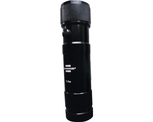 Lampe de poche à LED avec pointeur laser noire