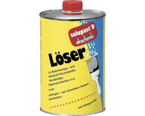 Dissolvant de résidus de colle/ dissolvant pour revêtement de sol/ dissolvant pour tapis/ dissolvant pour colle Solupast D 1l