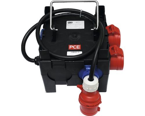 PCE Kleinverteiler IP44 H07RN-F 5G1,5 2x CEE 4x Schutzkontaktsteckdosen Zuleitung 1,5 m