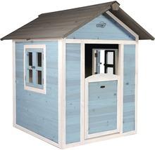 Cabane de jeux Sunny Lodge bois bleu-blanc-thumb-0