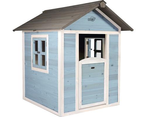 Cabane de jeux Sunny Lodge bois bleu-blanc-0
