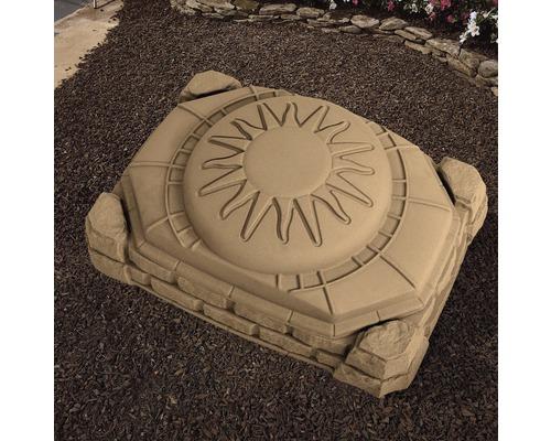 Bac à sable Step2 Border plastique 112x81x39cm marron