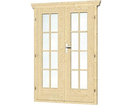 Double porte entièrement vitrée SKAN HOLZ pour 28 mm, 123,4 x193 cm nature