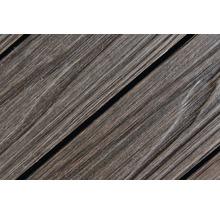 Dalle à clipser structure bois WPC 3D marron-thumb-2