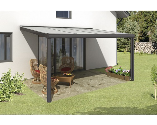 Toiture pour terrasse SKAN HOLZ Genua 434x257 cm anthracite