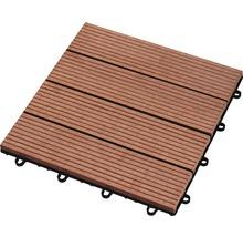 Dalle à clipser WPC 30 x 30 cm, brun-thumb-0