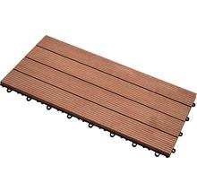 Dalle à clipser WPC 30 x 60 cm, brun-thumb-1