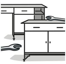 Montage d''armoire suspendue ou de desserte Küpper en usine-thumb-0