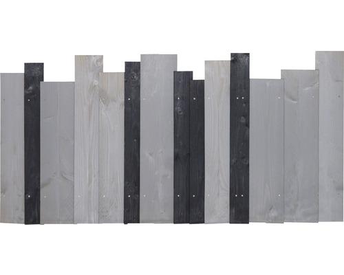 Élément de clôture Jenga 90x180 cm anthracite-gris