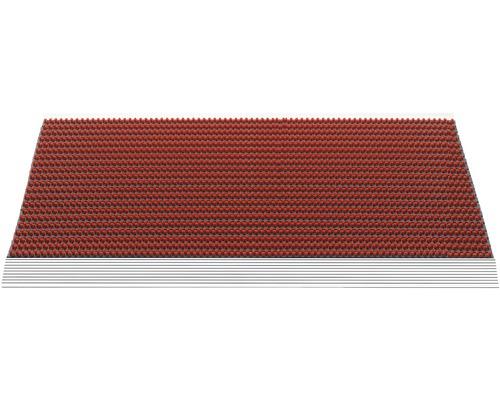 Paillasson aluminium Outline rouge 50x80 cm