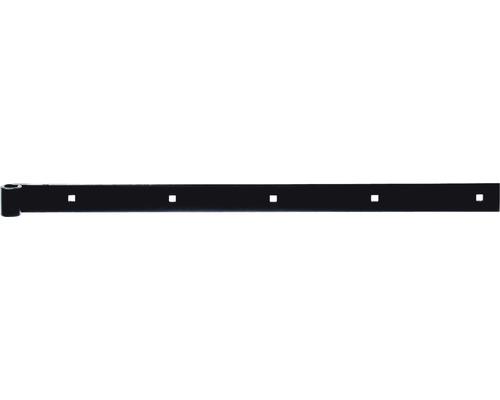 Paumelle de volet droite/droite, zinguée noir, 600, Ø14