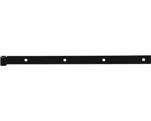 Paumelle de volet droite/droite, galvanisée zinguée noir 400/4, Ø 14 mm