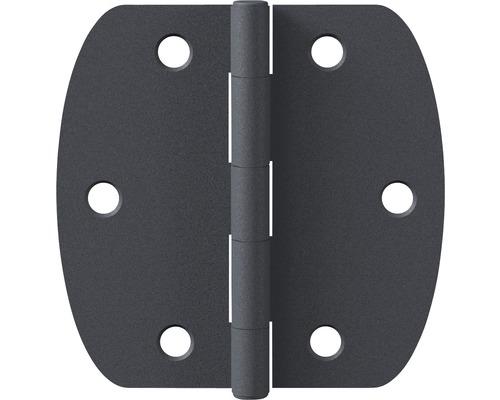 Charnière GAH Alberts acier gris 62x64 mm