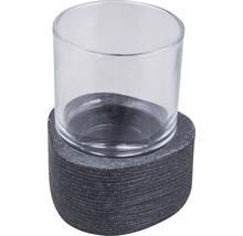 Gobelet pour brosses à dents Form & Style Dreieck noir aspect pierre-thumb-0