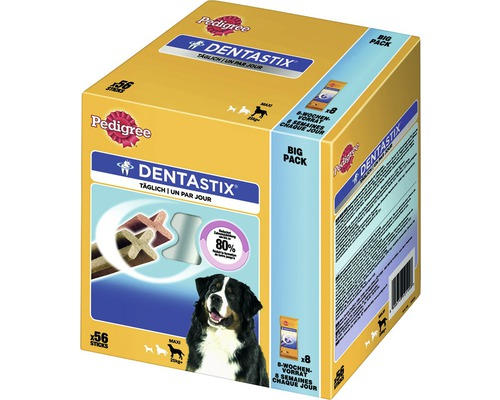 Hundesnack Pedigree Dentastix 56 Stück für große Hunde