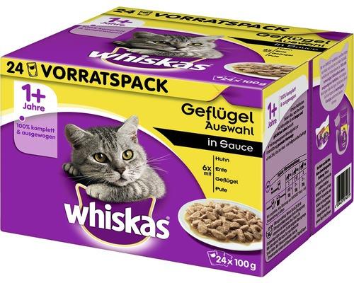 Nourriture humide pour chats, Whiskas 1+ sélection de volaille 24x100g