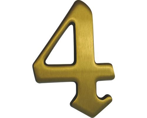 "Hausnummer Bronze satiniert ""4"" 120mm"