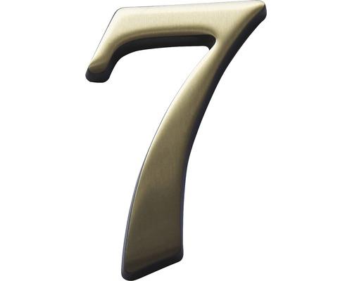 "Hausnummer Bronze satiniert ""7"" 120mm"