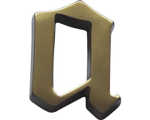 """Hausnummer Bronze satiniert """"a"""" 60mm"""
