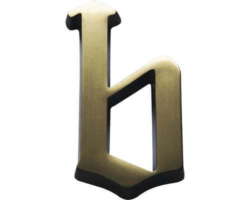 "Hausnummer Bronze satiniert ""b"" 60mm"