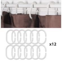 Anneaux en plastique pour rideau de douche blanc-thumb-1