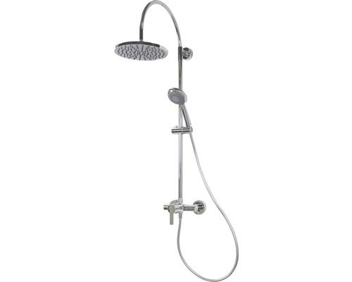 Duschsystem Breuer Aquamaxx 200 9240008000099 Kopfbrause rund chrom mit Einhebelmischer