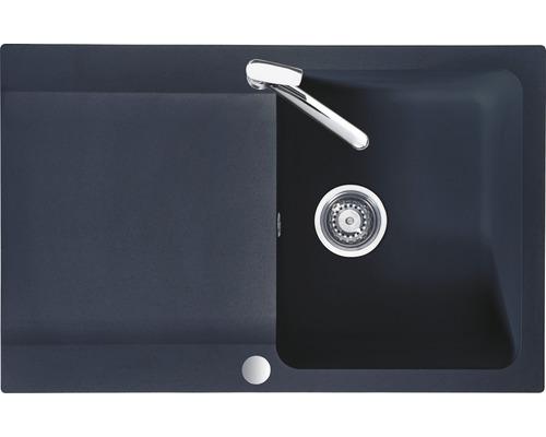 "Spüle Eurodomo Capri 45 Eurostone granit-graphit inkl. Siebkorb-Stopfenventil 3 ½"""